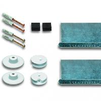FIXATION MIROIR INVISIBLE - SET A BOUTONS PRESSION SAFECLIX (08,16,26)