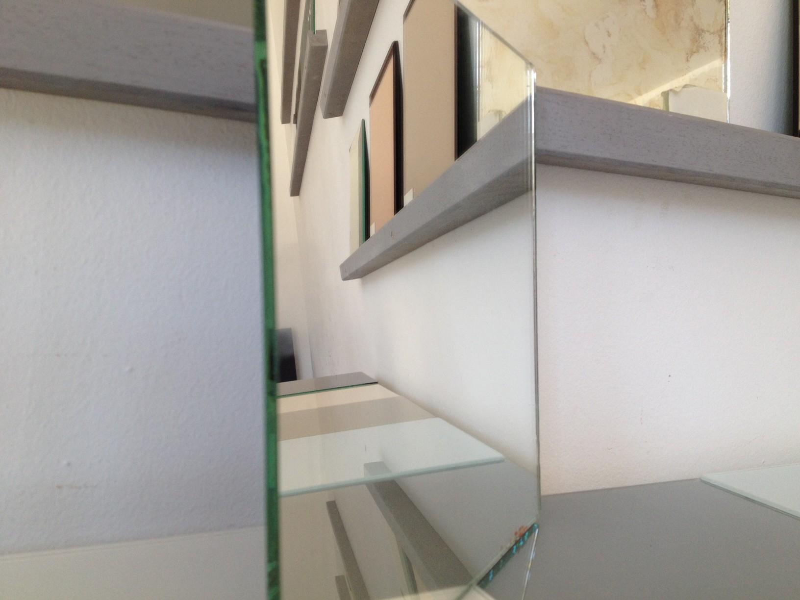 Miroir sur mesure argent avantage d 39 un miroir d coratif for Coupe miroir sur mesure