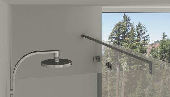 Profil u aluminium 2 5 m - Fixation pour paroi de douche en verre ...