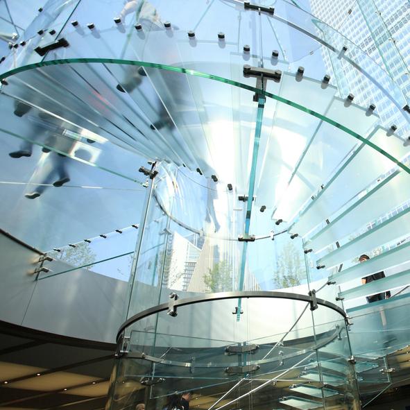 Dalle de sol en verre tri feuillet - Comment fixer une credence en verre ...