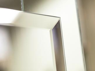 Miroir sur mesure argent avantage d 39 un miroir d coratif for Miroir eclat
