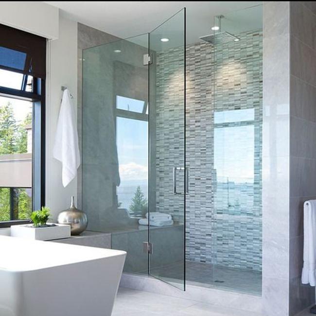 Paroi douche sur mesure castorama maison design for Porte de douche en verre sur mesure