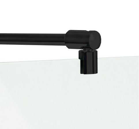 Barre de stabilisation noire barre de fixation ronde en noir pour paroi de douche