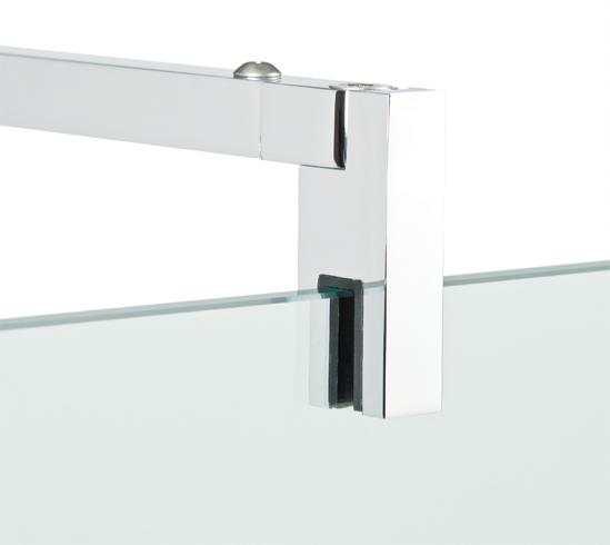 barre stabilisation design carré 90degrés mur verre pour paroi douche